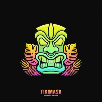 Красочный логотип tiki mask