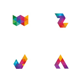 Colorful tile logo