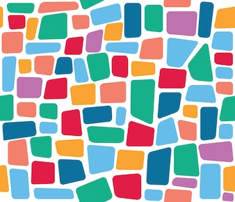 Colorful tile mosaic vector seamless pattern