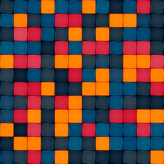 Colorful tile seamless pattern design