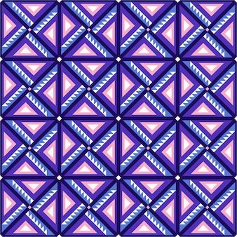 壁紙、ギフト包装紙、布地などに適したフラットなデザインのカラフルなタイルの幾何学模様。