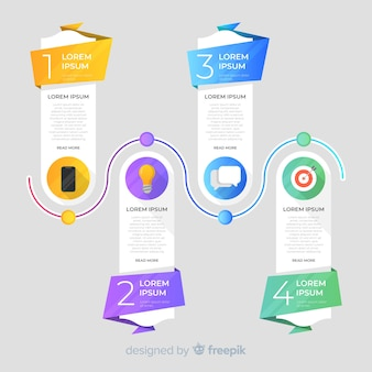 Colorful timeline element template