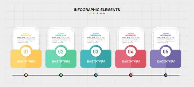 Красочный график инфографики.