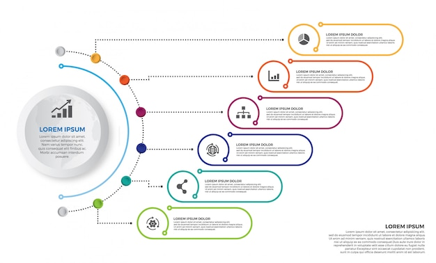 Colorful timeline infographics design vector and marketing icons