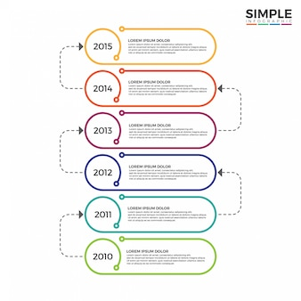 Colorful timeline infographics design vector.