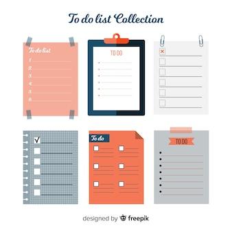 평면 디자인으로 다채로운 목록 수집