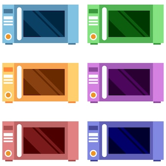Colorful toaster or oven element icon game asset flat illustration