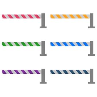 Colorful toll portal / train portal flat element icon game asset