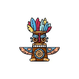 Colorful totem flat vector icon