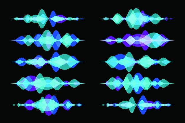 Colorful transparent audio wave or soundwave.