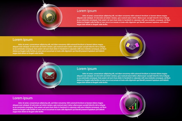 Colorful and transparent infographic on dark background.