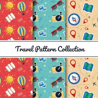 Colorful travel elements patterns
