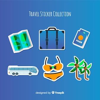 Colorful travel sticker set