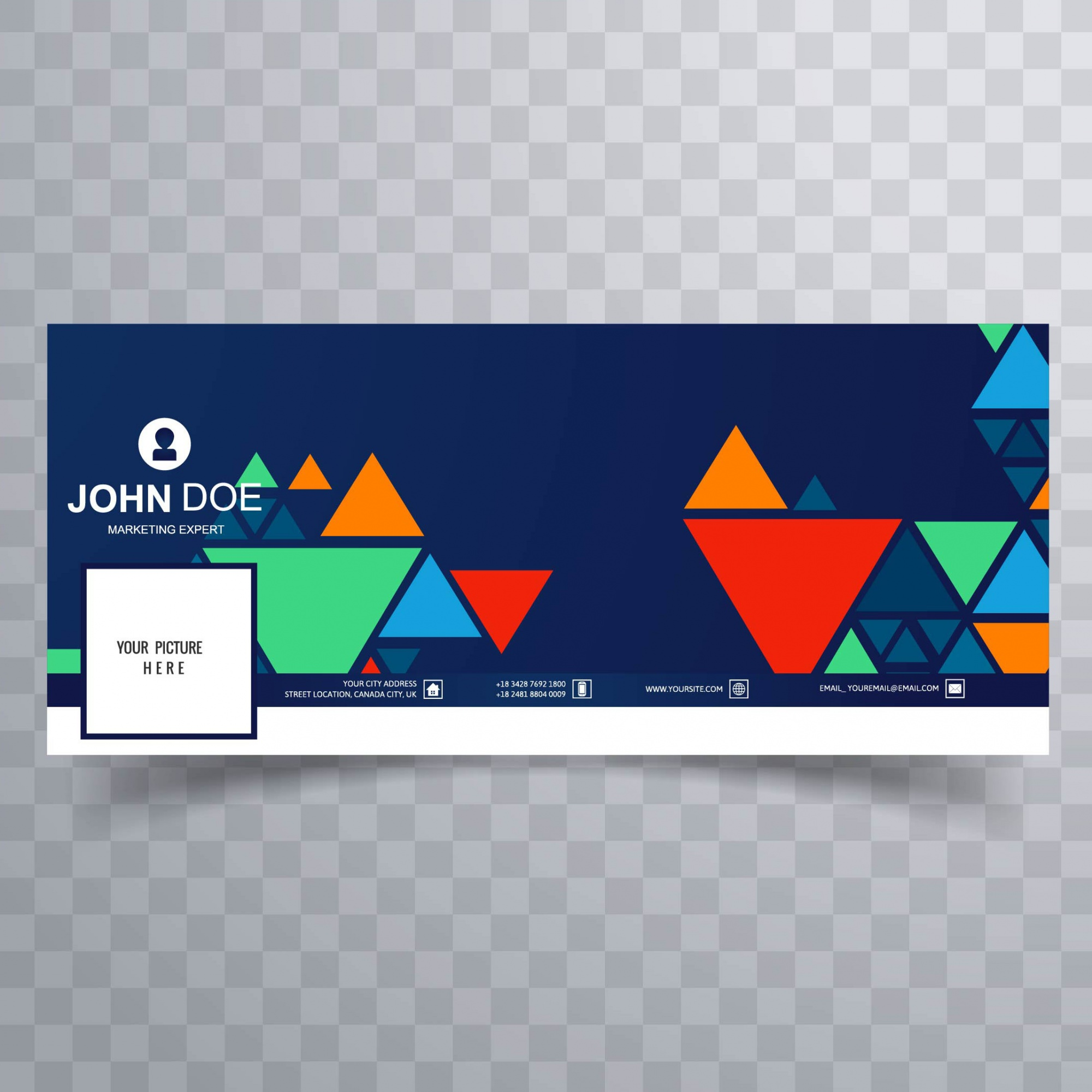 Colorful triangle facebook banner for timeline