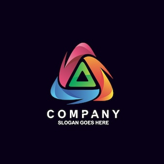 Colorful triangle logo design