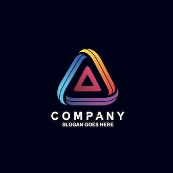 Colorful triangle logo