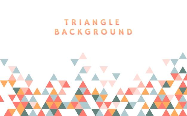 다채로운 삼각형 패턴 일러스트