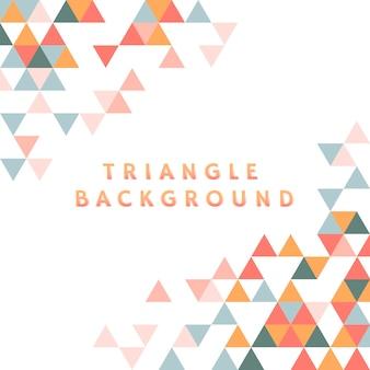 白地にカラフルな三角形模様
