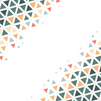 Colorful triangle patterned on white background