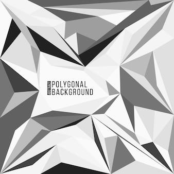カラフルな三角形の多角形の装飾幾何学的な抽象的な灰色黒白い背景