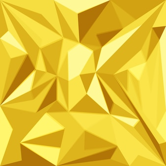 Colorful triangle polygonal decoration geometric abstract yellow gold background
