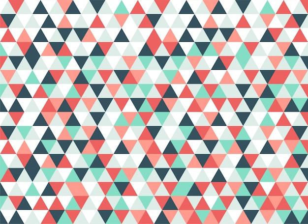 カラフルな三角形のモザイクパターン