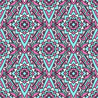 Colorful tribal native pattern, outline style