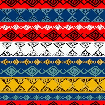 Colorful tribal vintage seamless pattern