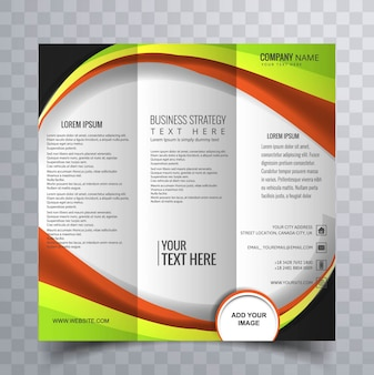 Colorful trifold brochure