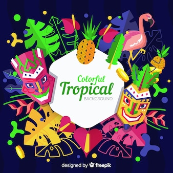 Colorful tropical background