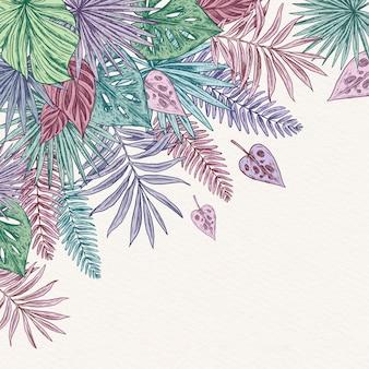 Красочные тропические листья фон