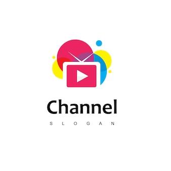 カラフルなテレビのロゴデザインのインスピレーション
