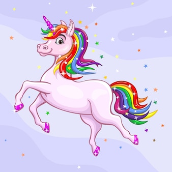 Colorful unicorn illustration design