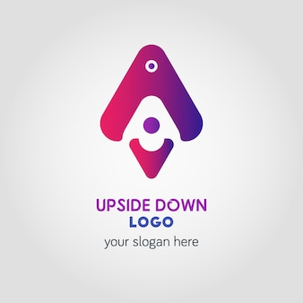 Colorful up and down arrow logo template