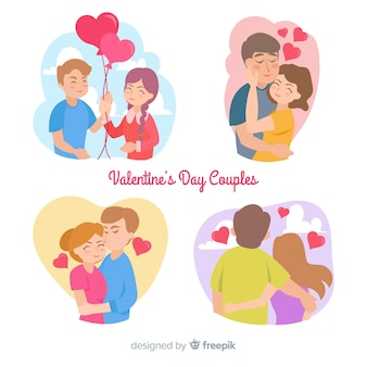 Colorful valentine couple collection