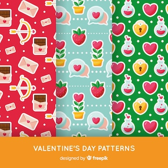 Colorful valentine pattern pack