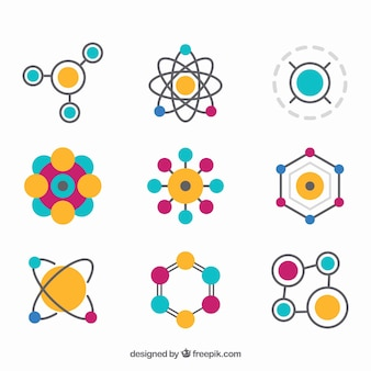Colorful variety of flat molecules