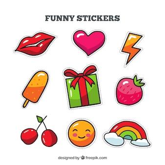 Красочное разнообразие забавных наклеек