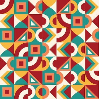 Colorful vector abstract geometric seamless pattern