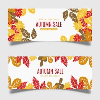 Colorful vector autumn banner design