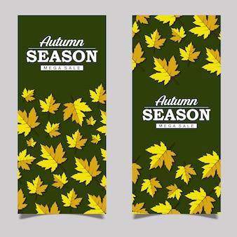 Colorful vector autumn leaflet design