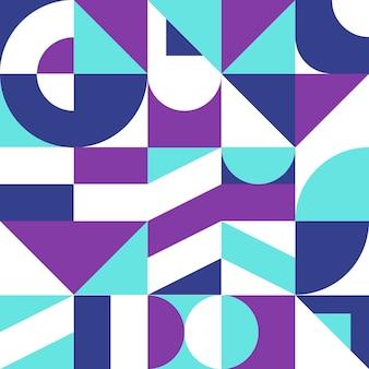 Красочный векторный фон в стиле баухаус