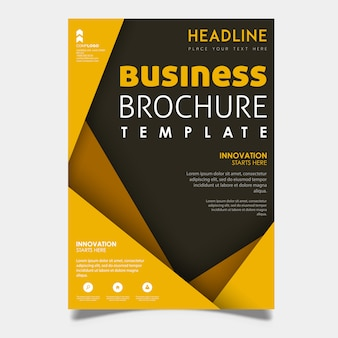 Colorful Vector Business Brochure Template Design