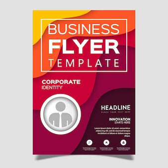 Colorful Vector Flyer Template Design
