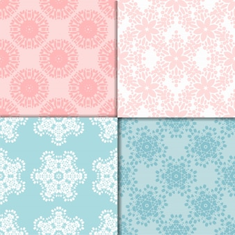 Colorful vector geometric designs floral simple pattern.
