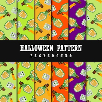 Colorful vector halloween pattern background