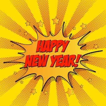Colorful vector illustration of new year celebration card