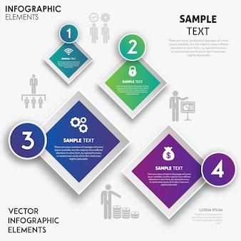 Design colorato infografica vettoriale