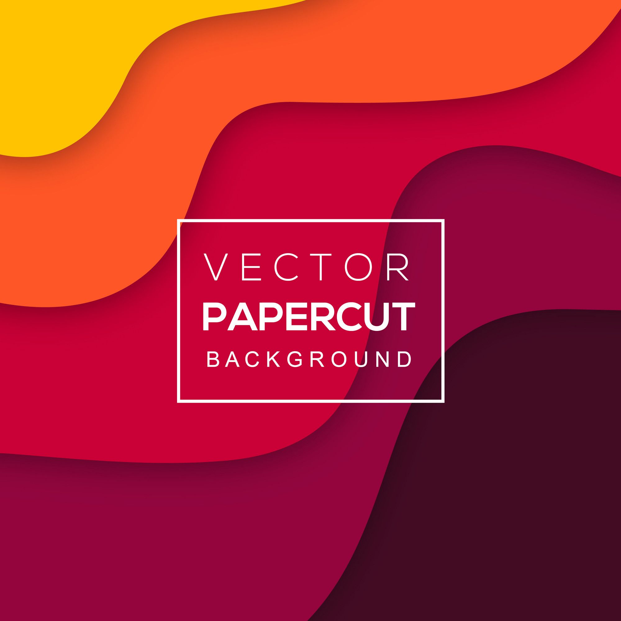 Colorful Vector Papercut Background