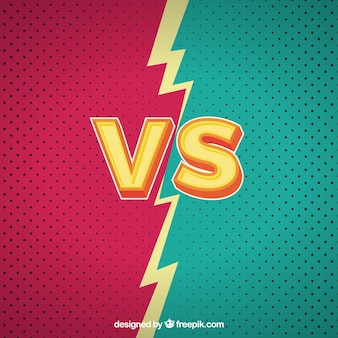 Colorful versus background with lightning bolt